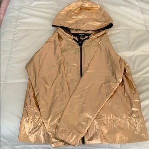 Zelos metallic gold windbreaker